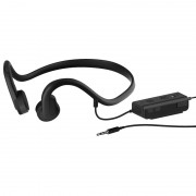 3.5mm Wire-controlled Bone Conduction Headphone Sports Headset for Phone/PC - Black