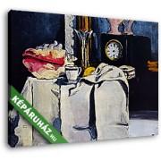 Paul Cézanne: Fekete óraszekrény (35x25 cm, Vászonkép )