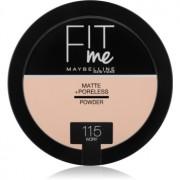 Maybelline Fit Me! Matte+Poreless матираща пудра цвят 115 Ivory 14 гр.