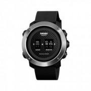 Ceas barbatesc sport SKMEI 1486 Drum Watch waterproof 5ATM cu bratasa din silicon negru