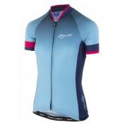 femeiesc premiu cyklodresy Rogelli DEBIT cu scurt maneca, albastru și roz 010.173