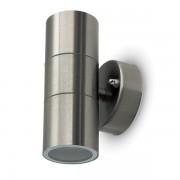 LAMPADA DA PARETE 2 ATTACCO GU10 INOX VT-7622-LED7500