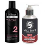 Mister Beard Anti Hair Fall Shampoo With Tresemme Beauty Full Shampoo