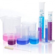 DIY Crafts 4 Transparent Plastic Graduated Cylinders 10ml 25ml 50ml 100ml with 5 Plastic Beakers and 1 Brush (9)