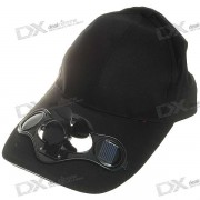 Gorra de beisbol c/ Ventilador solar - Negro