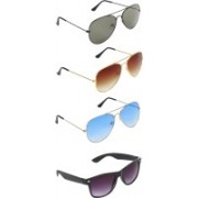 Zyaden Aviator, Aviator, Aviator, Wayfarer Sunglasses(Green, Brown, Blue, Black)