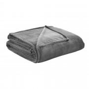 [neu.haus]® Deka - mikrovlákno, plyšová přikrývka - přehoz - 280 g/m² - tmavě šedá - 210x280 cm