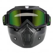 Masca Moto + Ochelari Moto Detasabili pentru castile Open Face