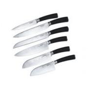 Tokio Kitchenware Ensemble complet de 6 couteaux en acier Damas 67 couches