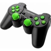 Gamepad Esperanza EGG107G Trooper PC PS3 Negru-Verde