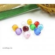 Mărgele rotunde fațetate cu interior alb (100g)