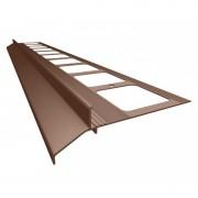 K30 Profil aluminiowy balkonowy 2.0m brązowy RAL 8019 - listwa balkonowa okapnikowa brązowa