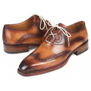 Paul Parkman Goodyear Welted Ghillie Lacing Wingtip Brogue Shoes Brown 2955-CML