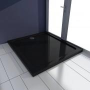 vidaXL Cădiță de duș dreptunghiulară din ABS 80 x 90 cm, negru
