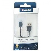 Digitek 2 Meter Genuine V8 Micro Usb Sync Data Cable Cum Charging Wire For Mobile Samsung/Oppo/Vivo/Sony/Micromax/Gionee