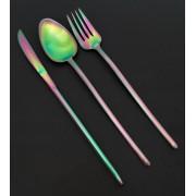 Комплект прибори за хранене HERDMAR STICK с PVD покритие Rainbow (дъга) - 36 части