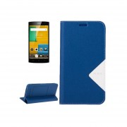 Homtom Ht7, 5.5 Inch Smartphone Matte Surface Horizontal Flip Leather Case With Holder And Screen Protector Film(blue)