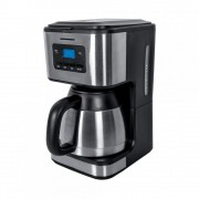 Cafetiera Heinner HCM-900XMC, 900W, 1L, Vas termos,Timer electronic, Negru/Inox