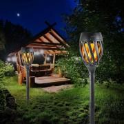 Kerti napelemes fonott fáklya lámpa 40 cm meleg fehér