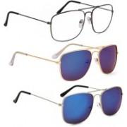 Phenomenal Retro Square Sunglasses(Clear, Green)