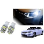 Auto Addict Car T10 5 SMD Headlight LED Bulb for Headlights Parking Light Number Plate Light Indicator Light For Honda Accord