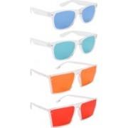 NuVew Wayfarer, Retro Square Sunglasses(Blue, Green, Orange, Red)