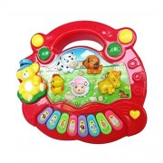 New Toy Musical Instrument Baby Kids Musical Educational Piano Animal Farm Developmental Music Toys for Children Gift @ZJF White