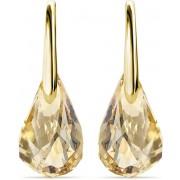 Yolora dames oorbellen met Swarovski kristal hanger – Echt zilveren oorhangers met Gouden plating, 925 sterling zilver– Goudkleurige druppel - YO-171