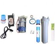 EarthRoSystem Service set1 X Smps(24 v) 1x Solenoid Valve (Sv) 24 V 1 x pump(75 GPD) 4 x elbow 1 taflon tape 1 prefilter 1 spun(pp) 5meter pipe membrane