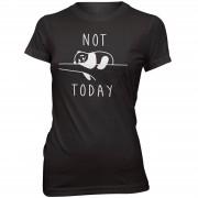 Womens Slogan Collection Camiseta Not Today - Mujer - Negro - S - Negro
