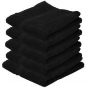 Towelcity 5x Luxe handdoeken zwart 50 x 90 cm 550 grams