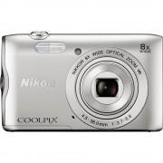Digitalna kamera Coolpix A-300 Nikon 20.1 mil. piksela optički zoom: 8 x srebrna Bluetooth, WiFi