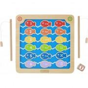 Rechin de pescuit educaționale Numere de jucării din lemn Culori Masterkidz