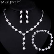 Set colier, bratara si cercei cu perle M&M Jewelry