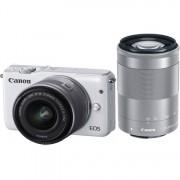 Canon eos m10 + ef-m 15-45mm is stm + ef-m 55-200mm is stm - bianco - 2 anni di garanzia