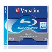 BD-RE BluRay lemez, újraírható, 25GB, 1-2x, normál tok, VERBATIM (BRVU-2)