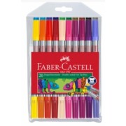 Carioca 20 culori 2 capete Faber-Castell