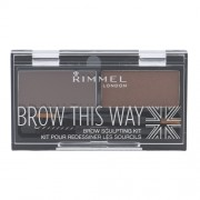 Rimmel London Brow This Way Scuplting Kit 2,4G For Perfect Eyebrow 002 Medium Brown Per Donna(Cosmetic)