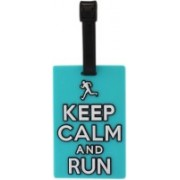 Tootpado Luggage Tag Keep Calm And Run - Cyan (6LNT67) - Bag Travel Tags Luggage Tag(Blue)