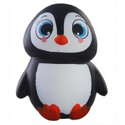 Fancyku Kawaii 1 pcs Jumbo Animal Squishies Penguin Squishy Slow Rising Sweet Scented Vent Charms Kid Toy Hand Toy, Stress Relief Toy Lovely Toy Animals Gift Fun Large