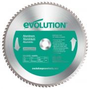 Disc pentru fierastrau circular, taiere aluminiu Evolution EVO80TBLADE14-0514, O355 x 25.4 mm, 80 dinti