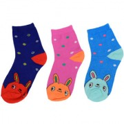 Multicolour Cotton Baby Boys/Baby girls Ankle Length Socks premium quaality - Pack Of 3 everyday use