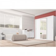 Jogo Quarto Casal Residence Branco - Demóbile