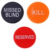Akril Dealer - átlátszó osztógomb