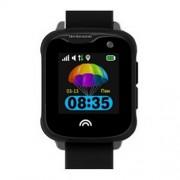 Ceas Inteligent pentru copii WONLEX KT05 Negru, cu GPS, rezistent la apa, localizare WiFI si monitorizare spion