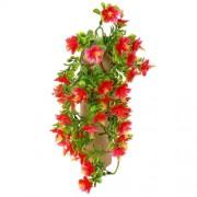 Floare artificială Hibiscus roşu, 40 cm