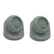 Merkloos 2x Nachtlampen / waaklampjes 9-SMD LEDs met dag / nacht sensor