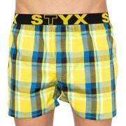Styx Pánské trenky Styx sportovní guma vícebarevné (B805) L
