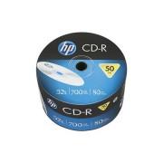 HP CD-R lemez, 700MB, 52x, zsugor csomagolás, HP