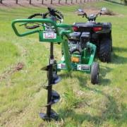 ATV pôdny vrták, 9 HP motor + 5 vrtákov